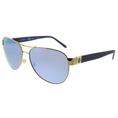 TY6051 Gold/Blue Flash Polarized Mirror Sunglasses (Spot Flash)