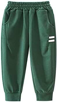 PAUBOLI Pantalones de chándal de algodón para niños y niñas de 1 a ...