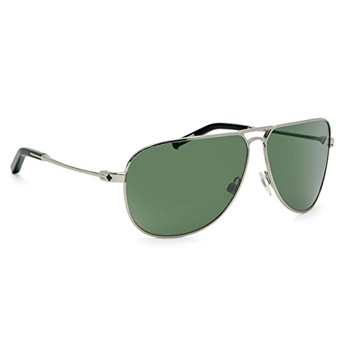 Spy Optics Wilshire Silver Aviator Polarized Sunglasses,Silver,65 - Wilshire Sunglasses