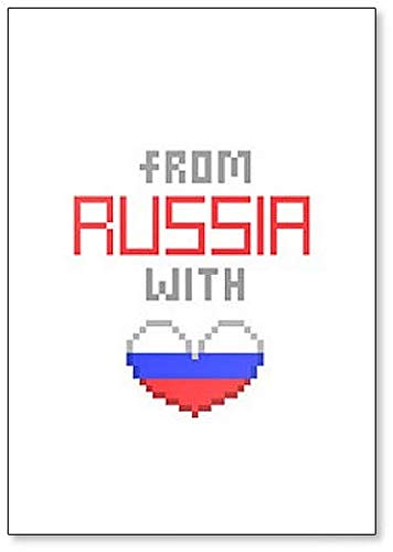 From Russia with Love, Pixel Art Style Illustration Fridge Magnet