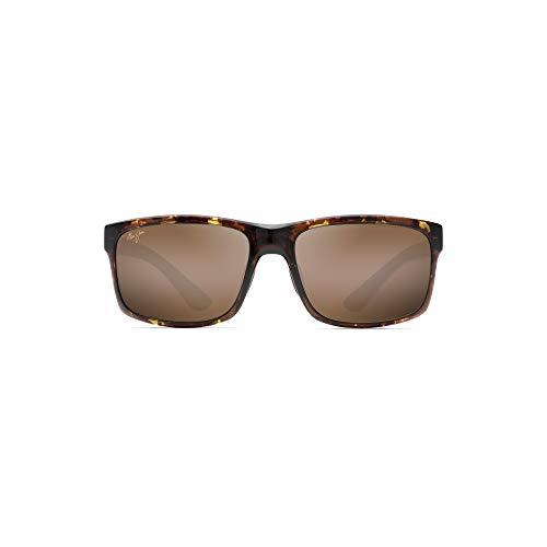 Maui Jim Pokowai Arch H439-15T | Polarized Olive Tortoise Rectangular Frame Sunglasses, Patented PolarizedPlus2 Lens Technology