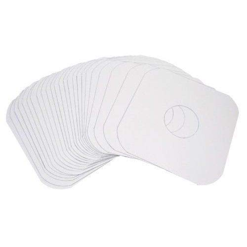 """50-Pack Rounded Euro Style Inner Sleeves - LP Vinyl Record Album Heavyduty White Paper Sleeves 12"""" 33rpm"""