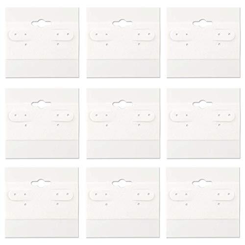 (N'ice Packaging Hanging Earring Cards, Jewelry Display Earring Rack Stand Display Card (100, 2