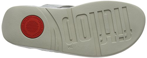Lulu Mujer 578 print Shimmer Thong Toe Plateado Abierta Fitflop Print Sandals Sandalias shimmer Punta Con Para silver dqPnRx