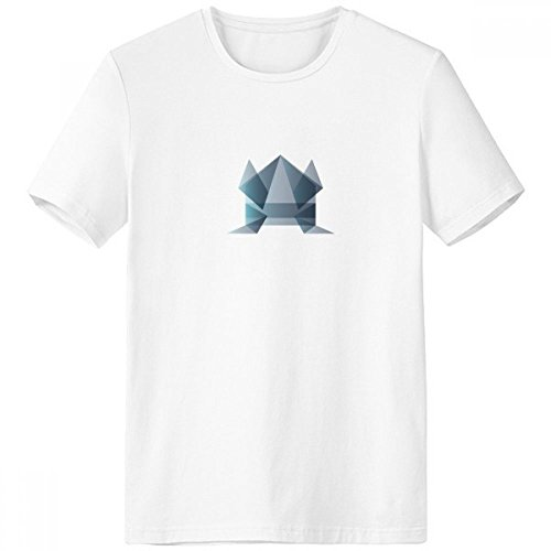 Origami Abstract Frog Geometric Shape Crew Neck White T-shirt Short Sleeve Comfort Sports T-shirts Gift ()