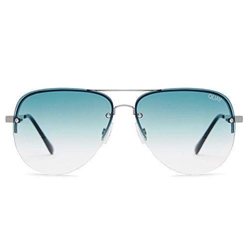 Quay Australia MUSE FADE Women's Sunglasses Jasmine Aviator - - Muse Blue Quay