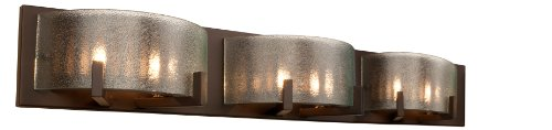 Rogue Decor 611240 Firefly 6-Light Bath Vanity - Warm Bronze Finish - Micro-Texture ()