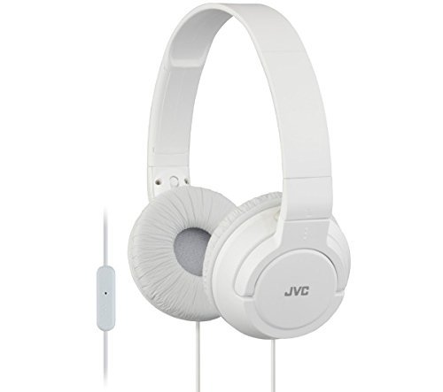 - JVC HASR185WE white - Foldable headphones with microphone