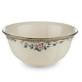 Ivory Fruit Bowl (Lenox Spring Vista Gold Banded Ivory China Fruit Bowl)