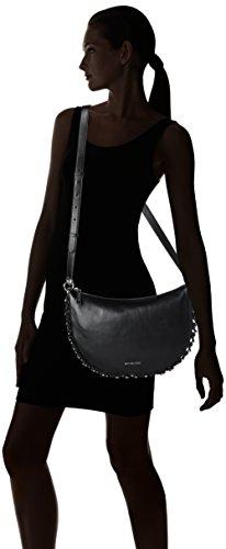 Michael Kors Piper - Borse a spalla Donna, Schwarz (Black), 3x21.5x34 cm (B x H T)