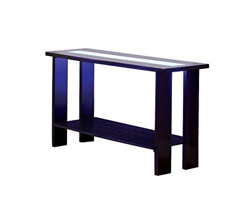 Furniture of America Crownguard 3-Way LED Lighted Sofa Table, Espresso