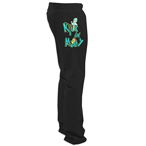 Megge Men's Rick and Morty1 Drawstring Fleece Pant Black 3X (2k15 Christmas Present)