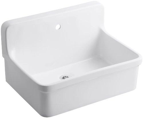 KOHLER K-12781-0 Gilford Scrub-Up Plaster Sink, White by Kohler