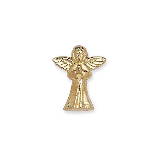 14k Yellow or White Gold Praying Angel Lapel Pin For Men (yellow-gold) (Angel Pin Gold Yellow Praying)