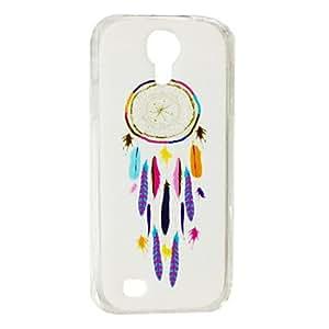 Mini - Colorful Feather Dream Catcher Pattern Plastic Hard Case for Samsung S4 I9500 ,Color: Multicolor