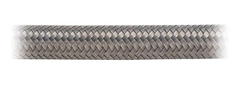 Earl's 310010 Auto-Flex HTE Stainless Steel Braid Protected -10AN by 10' Synthetic Rubber Hose