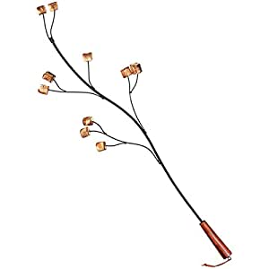 Rome's Marshmallow Tree Fork, Steel with Wood Handle