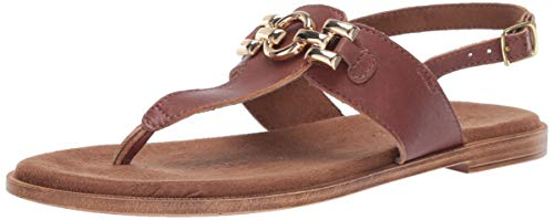 Bella Vita Women's Lin-Italy Thong Sandal Shoe, Whiskey Italian Leather, 11 2W US