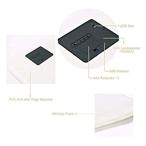 KMYS Smart Alarm Clock,Pressure Sensitive Rug Carpet Alarm Clock LED Smart Digital Alarm Clock (Large Alarm Clock)