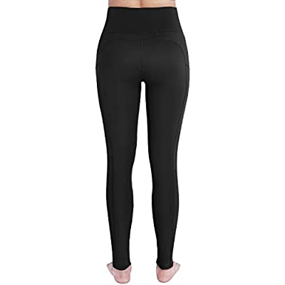 OUGES Womens High Waist Pockets Yoga Pants Running Pants Workout Leggings: Clothing