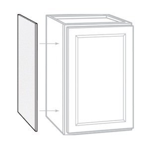RSI HOME PRODUCTS SALES CBKAS1230-SW White Finish Wall Cabinet End Panel (2 Pack), 12