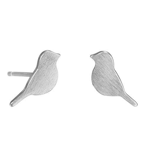(YESMAEA Lovely Bird Ear Earrings Simple Cartoon Cute Sparrow Animals Ear Stud Simple Stylish Earring)