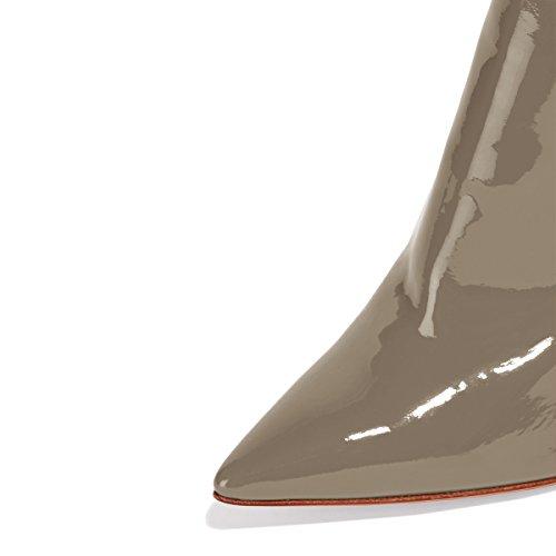 Sexy Partito Caricamenti Scarpe Donne Stiletti Ydn Delle Alti Sistema Del Aguzza Da Tacchi Dei Bottini Sera Punta Del Grigio Caviglia xqPH4nw