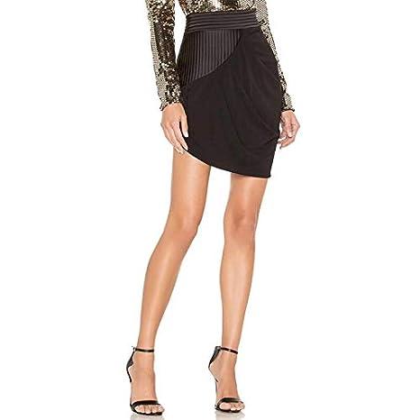 GDNTCJKY Faldas para Mujer Falda Asimétrica De Moda Cintura Alta ...