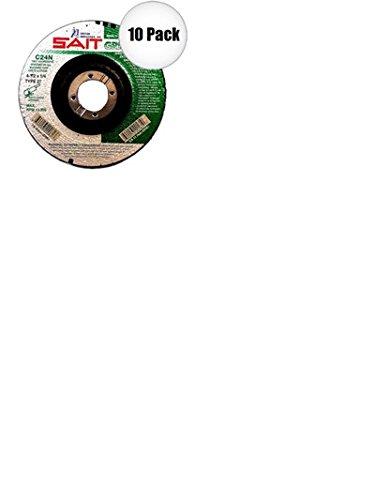 Sait 20061 10 Pk 4-1//2 Inch X 7//8 Inch X 1//4 Inch Masonry Grind Wheel