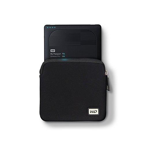 WD My Passport Wireless Pro Neoprene Carrying Case (WDBDRF0000NBK-WASN)