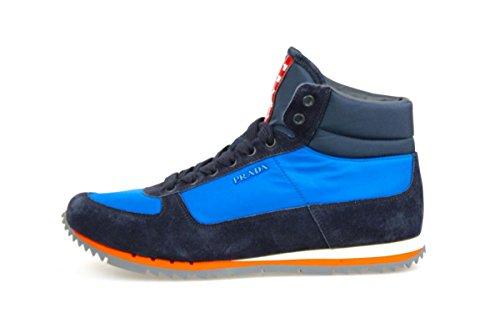 Prada Mens 4t2969 Okm F0b7m Läder Sneaker