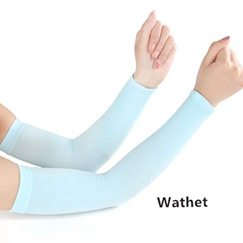 Men Pure Color Arm Sleeve Sport Running Cycling Golf Fishing Fingerless Arm Warmers Women Ciclismo Basketball Cuff Sleeves,10,One Size ()