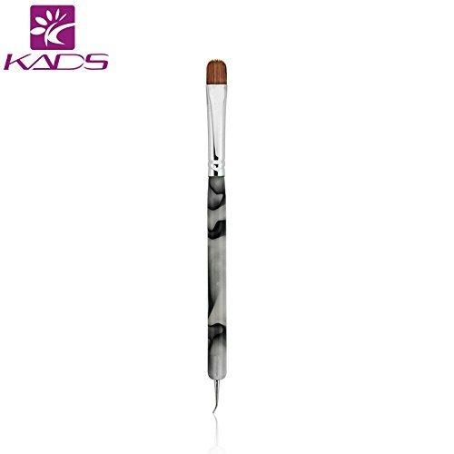 KADS Kolinsky Sable Brush 2 Way Acrylic Professional French Manicure Clean-up Brush Nail Art Brush Bend Nail Dotting Pen KADS Co. Ltd