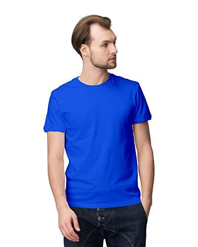 INKWALE Men Multicolor Solid Round Neck Tshirt
