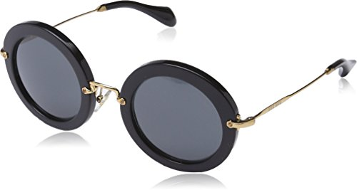 Miu Miu Women's MU 13NS Designer Sunglasses, - Miu Sunglasses Round 49mm Miu