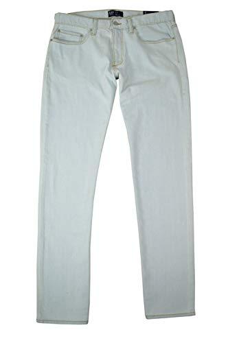 GAP Mens Straight Leg Wearlight Denim Stretch Light Bleached Blue Jeans (36x30)