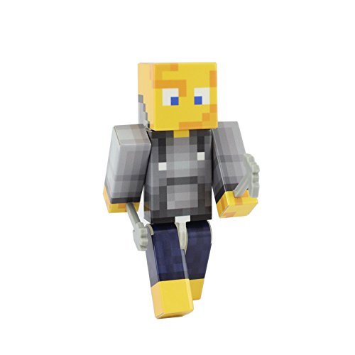 [Cheese Head Action Figure Toy, 4 Inch Custom Series Figurines by EnderToys] (Ghast Minecraft Costume)