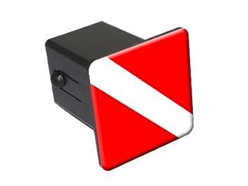 Scuba Diver Flag Diving Tow Trailer Hitch Cover Plug Insert 2