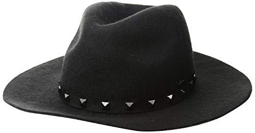 A|X Armani Exchange Women's Cowgirl-Inspired Felt hat, Black, s/m (Caps Armani Exchange Black)