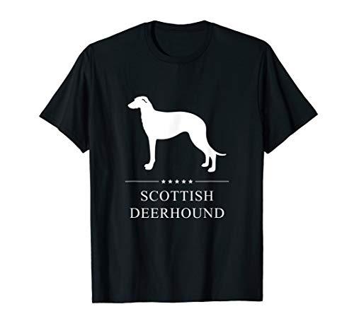 (Scottish Deerhound : White Silhouette T-Shirt)