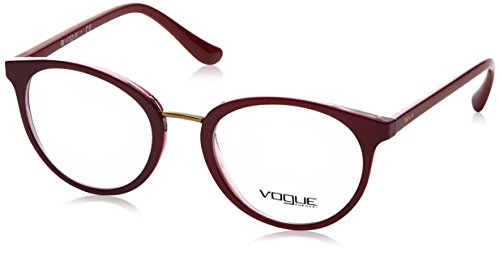 Vogue VO5167 Eyeglass Frames 2555-50 - Top Dark Red/red Transp - Red Frames Vogue Eyeglass