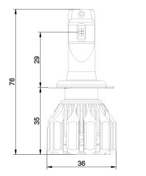 H8,H9 Wattstar H11 LED Headlight Bulbs 64W 9600LM 6500K Cool White 2019 High-Tech with 360 Degree Adjustable Beam-2 Yr Warranty