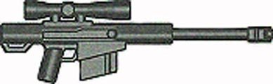 BrickArms 2.5 Scale LOOSE Weapon High Caliber Sniper Rifle HCSR Gun Metal (Caliber Sniper Rifle)