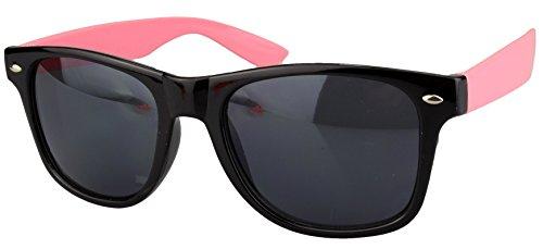 neu de noir 80's couleurs differentes retro Wayfarer Lunettes rose monture soleil style 1SnxwPq6Oq