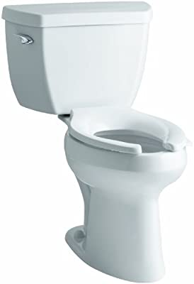 Kohler K-3519-0 Highline Classic Comfort Height Elongated 1.0 gpf Toilet with Left-Hand Trip Lever, Less Seat, White
