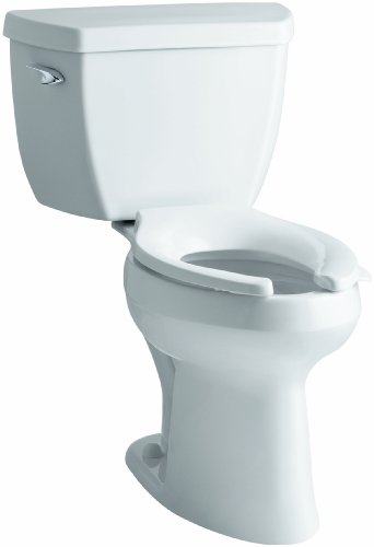Classic White Lever (Kohler K-3519-T-0 Highline Classic Comfort Height Elongated 1.0 gpf Toilet with Tank Cover Locks and Left-Hand Trip Lever, Less Seat, White)