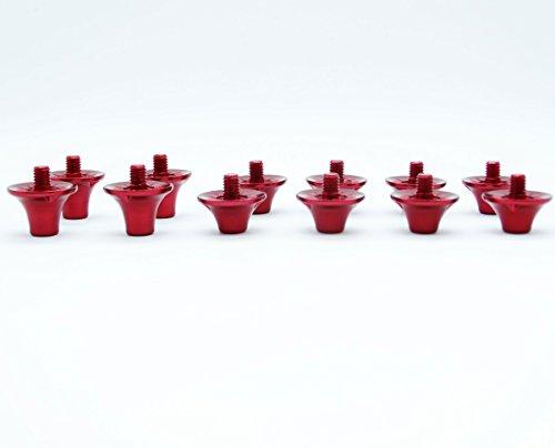 55Sport Pro Custom Fußball leichter Legierung Ohrstecker 8x 10mm 4x 13mm rot