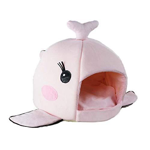 bromrefulgenc Pet Bed,Pet Carpet,Whale Mouth Shape Pet Nest Cotton Velvet Dog Puppy Cat Kitten Warm Kennel Mat - Pink ()