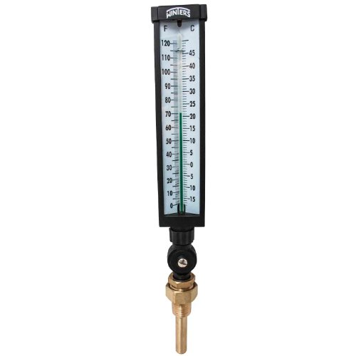 -30 to 120 Degrees F Temperature Range Cooper-Atkins 1051-03-1 Glass Stick Non-Toxic Spirit Filled Test Thermometer