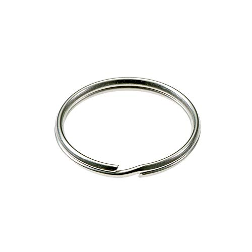 Lucky Line 3 inch Nickel-Plated Tempered Steel Split Rings, 10 per Package (7910010)